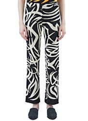 House Of Had Tribai Straight Leg Knit Pants Black