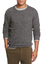 1901 Melange Knit Merino Wool And Cashmere Sweater Black