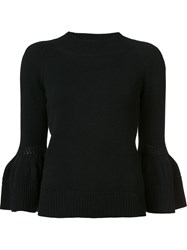 Carolina Herrera Bell Sleeve Jumper Black