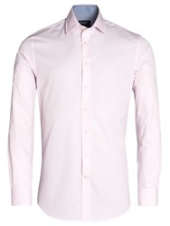 Hackett London Classic Stripe Long Sleeve Shirt White Pink