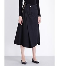 Junya Watanabe Irregular Wool Blend Skirt Black