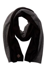 Cole Haan Wool And Cashmere Blend Colorblock Scarf Black