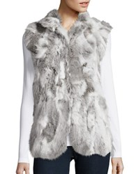 Adrienne Landau Rabbit Fur Vest Grey