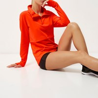 River Island Womens Ri Active Orange Layered Sports Top