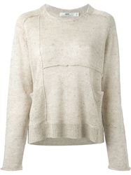 Hope Exposed Seam Sweater Nude And Neutrals