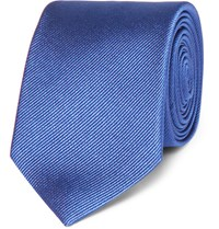 Dolce And Gabbana 6Cm Martini Silk Twill Tie Blue