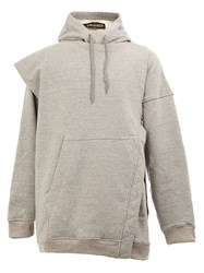 Y Project Layered Loose Fit Hoodie Grey