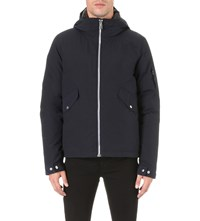 Paul Smith Ps Cotton Down Hooded Bomber Navy