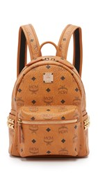 Mcm Side Stud Mini Stark Backpack Cognac