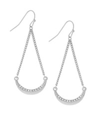 Bcbgeneration Geo Basic Forms Sweep Trapeze Earrings Silver