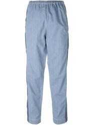 Kenzo Ccropped Jeans Blue