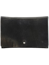 Rick Owens Distressed Effect Wallet Grey