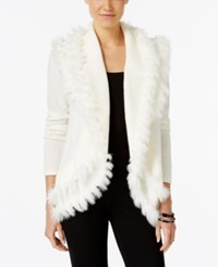 Alfani Petite Faux Fur Trim Cardigan Only At Macy's Cloud