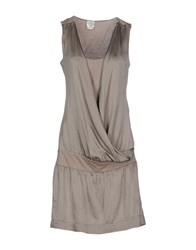 Daniele Fiesoli Short Dresses Grey