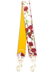 Dolce And Gabbana Floral Print Bag Strap Yellow