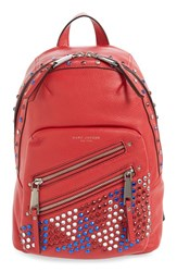 Marc Jacobs 'P.Y.T' Leather Backpack Red Brilliant Red
