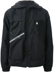 Nasir Mazhar Hooded Winbreaker Black