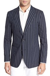 Men's Bonobos Trim Fit Stripe Cotton And Linen Sport Coat