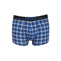 Boss Logo Boss Small Check Trunks Blue