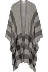 Madeleine Thompson Shipton Checked Cashmere Wrap Light Gray