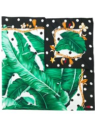 Dolce And Gabbana Banana Leaf Print Scarf Multicolour