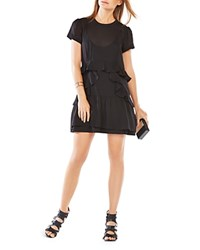 Bcbgmaxazria Inez Ruffle Dress Black