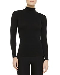 Commando Ballet Body Mock Turtleneck Top Black