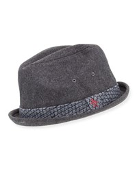 True Religion Governor Porkpie Felt Hat Charcoal H