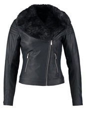 Dorothy Perkins Faux Leather Jacket Blue