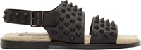 Dsquared Black Matte Leather Studded Sandals