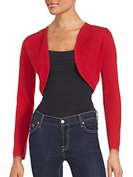 Cashmere Saks Fifth Avenue Shrug Red Heart