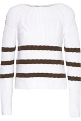 Bailey 44 Dunaway Striped Cotton Blend Sweater White