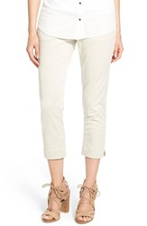 Women's Jag Jeans 'Marion' Colored Pull On Stretch Twill Crop Pants Stone