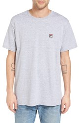 Fila Men's Usa Embroidered Box T Shirt Grey Heather
