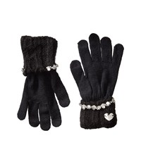Betsey Johnson On The Rocks I Touch Gloves Black Extreme Cold Weather Gloves