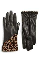 Fownes Brothers Women's Leather And Genuine Calf Hair Gloves