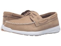 Sperry Sojourn Nubuck Taupe Men's Lace Up Moc Toe Shoes