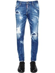 Dsquared 15Cm Skinny Fit Stretch Denim Jeans