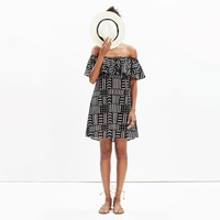 Madewell Rio Cover Up Dress In Arrow Grid