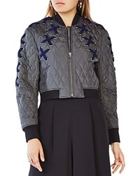 Bcbgmaxazria Colin Quilted Bomber Jacket Dark Olive