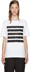 Palm Angels Ssense Exclusive White 5 Stripes T Shirt