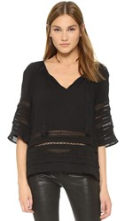 Bb Dakota Tatiana Boho Blouse Black