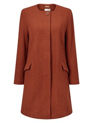 Eastex Textured Wool Coat Multi Coloured