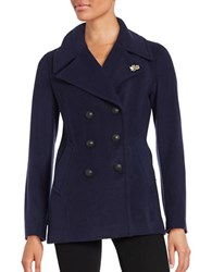 Karl Lagerfeld Double Breasted Peacoat Navy