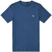 Fred Perry New Classic Crew Neck Tee Blue