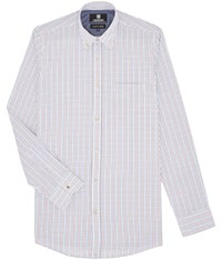 Austin Reed Wrinkle Free Regular Fit Tattersall Check Shirt Red