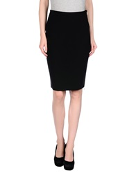 Siste's Siste' S Knee Length Skirts Black