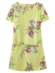 Joules Ianthe Printed Tunic Dress Lime Floral