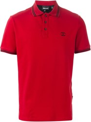 Just Cavalli Short Sleeve Polo Shirt Red