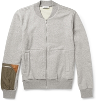 Tim Coppens Loopback Cotton Jersey Bomber Jacket Gray